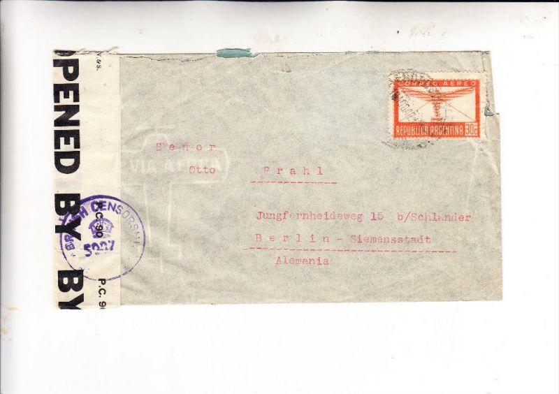 ARGENTINA / ARGENTINIEN, 1947, Michel 456, Zensurbrief nach Berlin