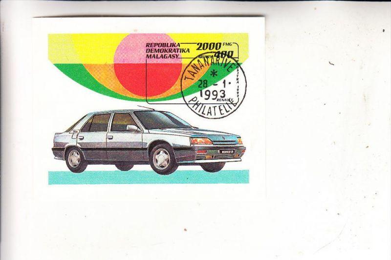 MADAGASKAR - 1992, Michel Block 206, Renault 25, gestempelt