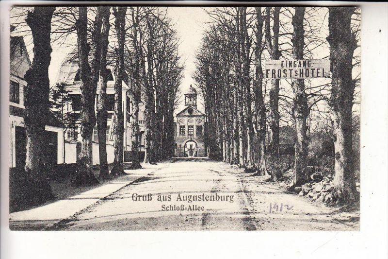 DK 6440 SONDERBURG, Schloss Augustenburg / Augustenborg, Schloss-Allee, Frost's Hotel, 1912