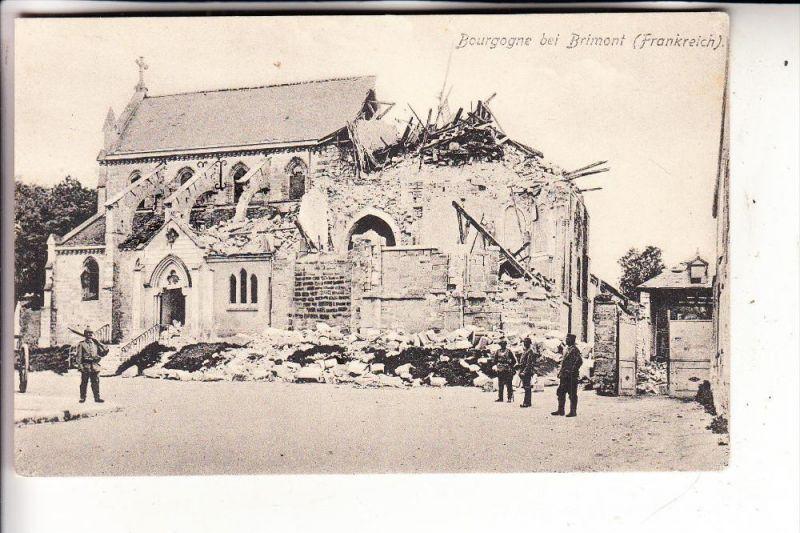 F 51110 BOURGOGNE bei Brimont, Zerstörungen 1.Weltkrieg