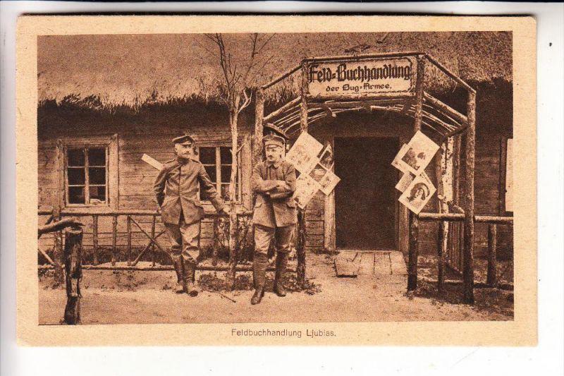 MILITÄR - 1.Weltkrieg, LJUBIAS, Feldbuchhandlung der Bug - Armee, 1918, deutsche Feldpost - Bibliothek