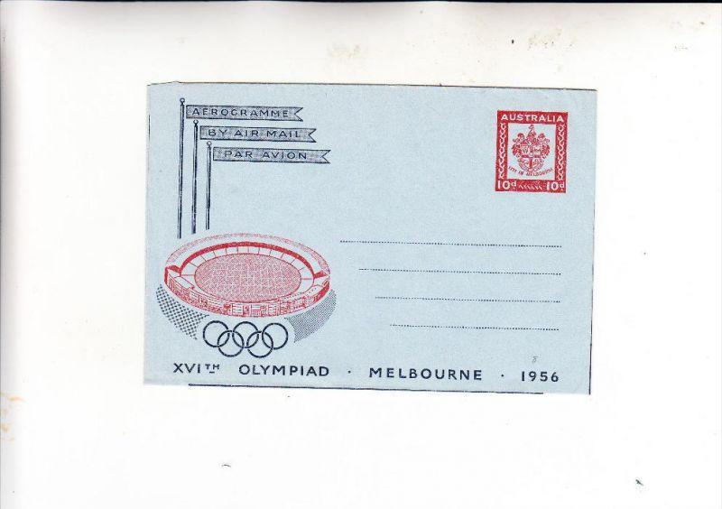 AUSTRALIA / AUSTRALIEN, Olympia(d) 1956, HG/FG 8, mint / ungebraucht, sehr gut erhalten