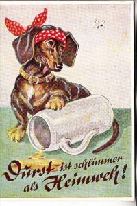 HUNDE - DACKEL / Teckel / Dachshund / Bassotto - Humor- Bier
