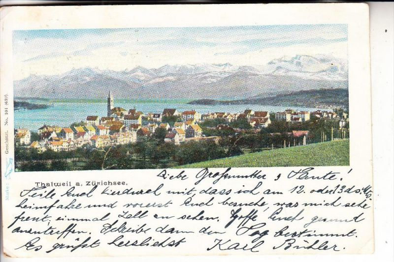 CH 8800 THALWIL, Panorama, 1901