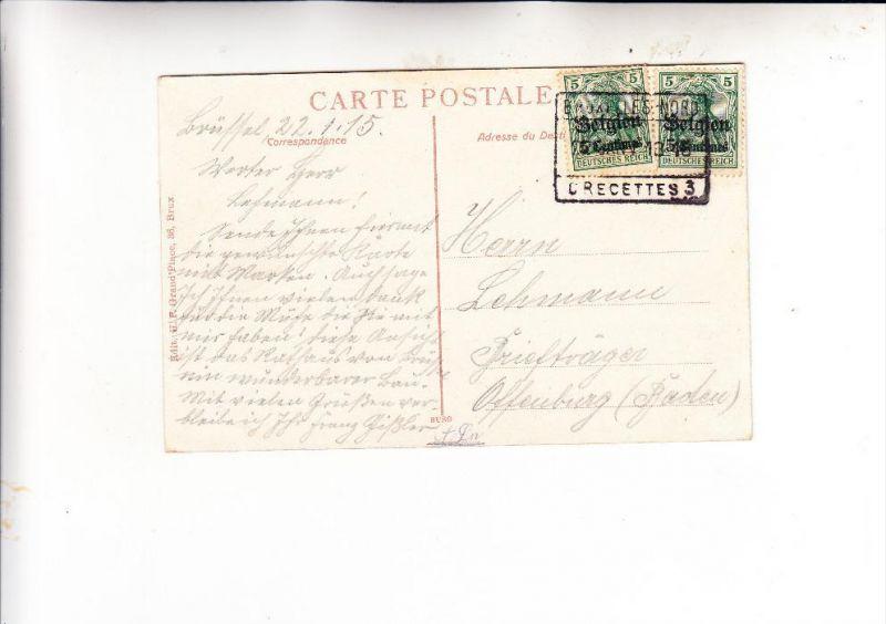 DEUTSCHE BESETZUNG BELGIEN, Michel 2, Mehrfachfrankatur nach Deutschland, Brussel Nord Crecettes 3, 1915