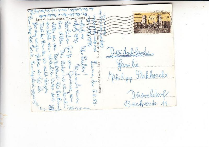 ITALIA / ITALIEN - 1959, Unificato 908, Olympia 1960, Einzalfrankatur nach Deutschland