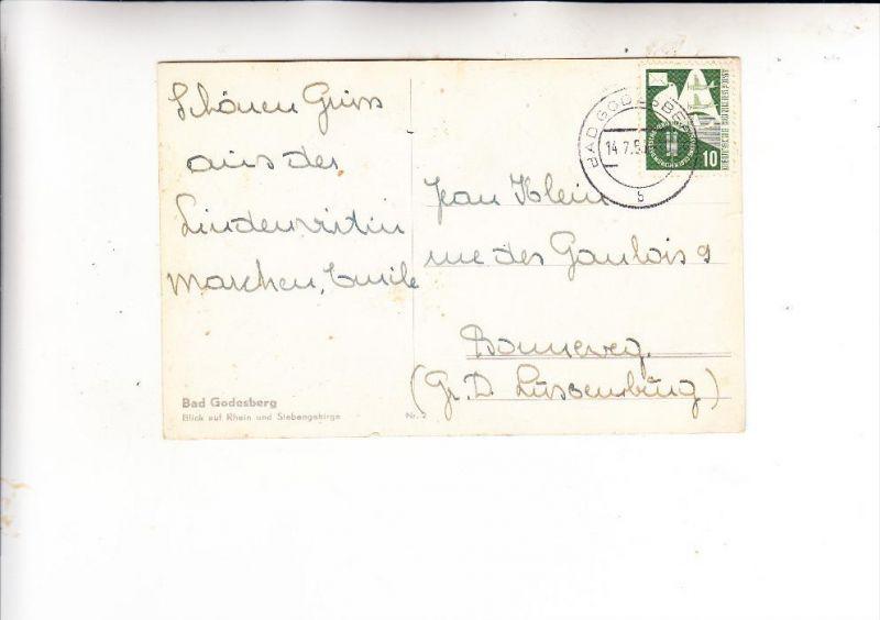 BUND, 1953, Michel 168, Einzelfrankatur nach Luxemburg, 14.7.1955