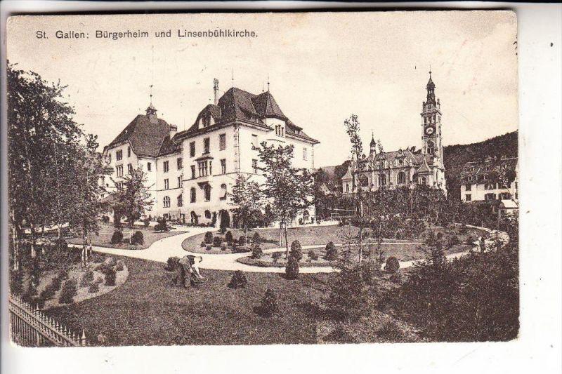 CH 9000 SANKT GALLEN, Bürgerheim und Linsenbühlkirche