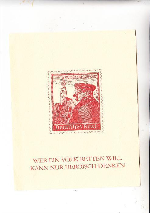 DEUTSCHES REICH, 1938, Michel 691, nichtamtlicher Block, Japanpapier