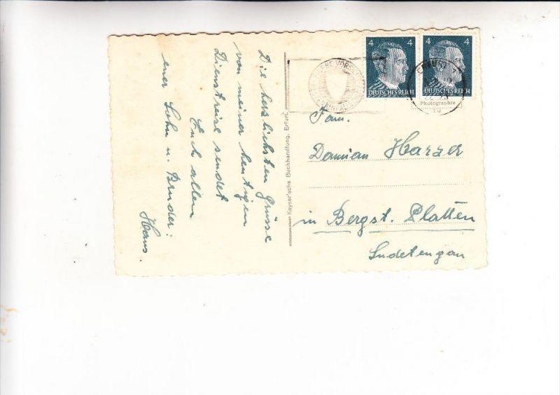 DEUTSCHES REICH, 1942, Michel 783, Mehrfachfrankatur in das Sudetengau
