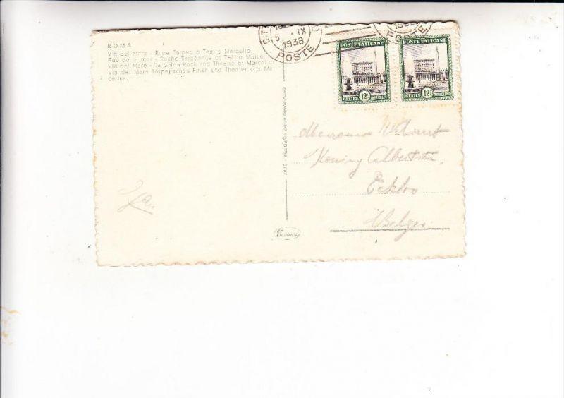 VATICAN - 1933, Michel 23, Mehrfachfrankatur nach Belgien