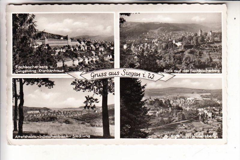 5900 SIEGEN, Mehrbildkarte 1954