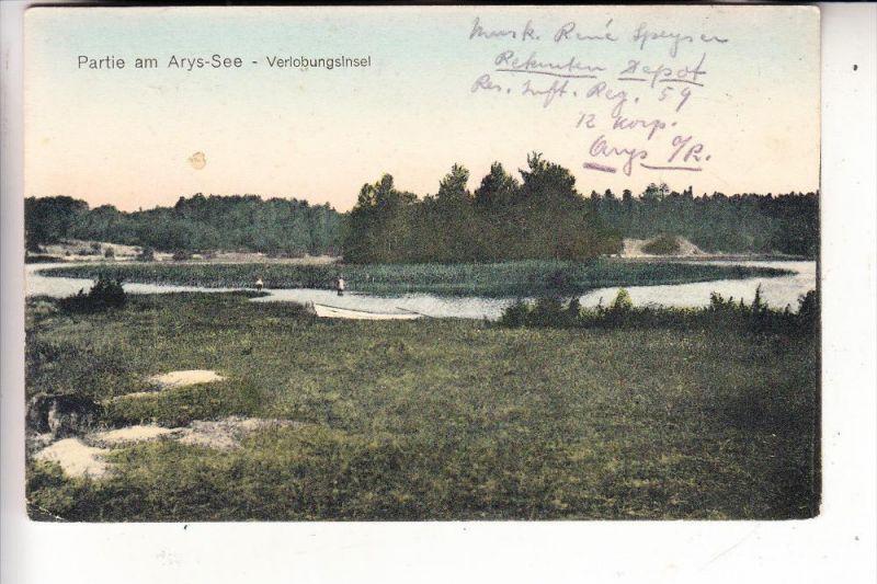 OSTPREUSSEN - ARYS / ORZYSZ, Verlobungsinsel, 1916, deutsche Feldpost