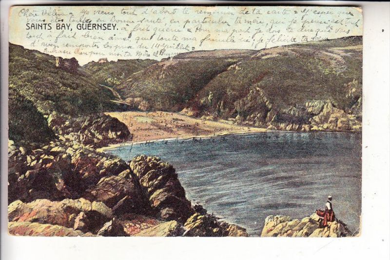 UK - ENGLAND - CHANNEL ISLAND - GUERNSEY, Saints Bay, 1907