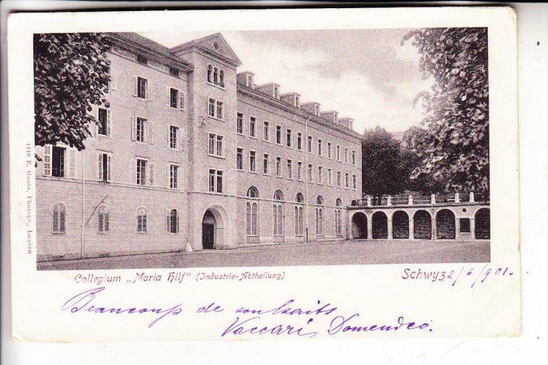 CH 6430 SCHWYZ, Collegium Maria Hilf ( Industrie Abtheilung ) 1901