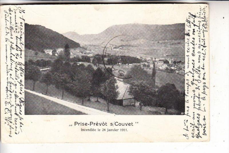 CH 2108 COUVET, Prise-Prevot, Incendiee le 24.01.1911, Überschwemmungskatastrophe