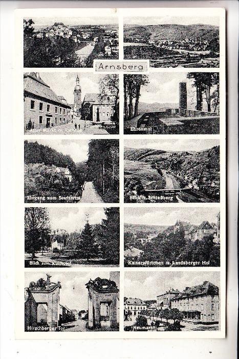 5760 ARNSBERG, Mehrbildkarte, 1957