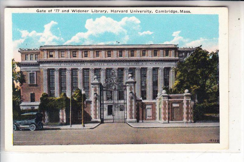 BIBLIOTHEK - Harvard University, Cambridge