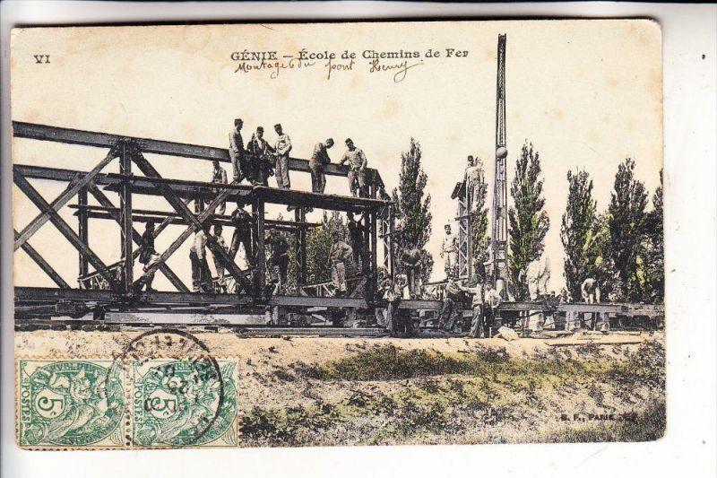 MILITÄR - Ausbildung französische Eisenbahn-Pioniere