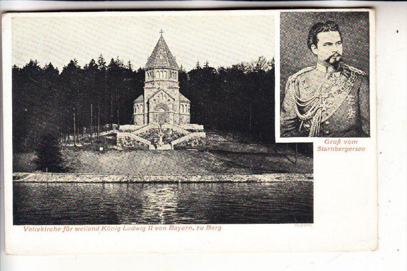 MONARCHIE - DEUTSCHLAND - BAYERN, König Ludwig II, Berg, Starnberger See, ca. 1905