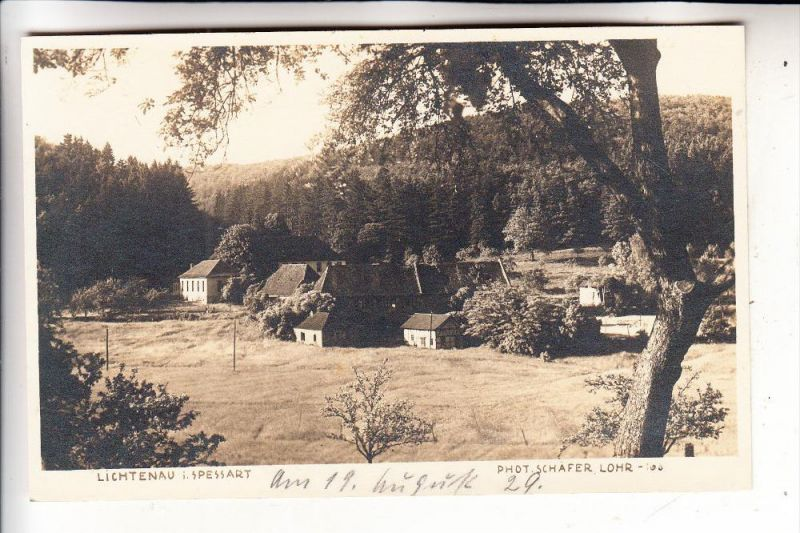 8771 LICHTENAU, Photo-AK, 1929