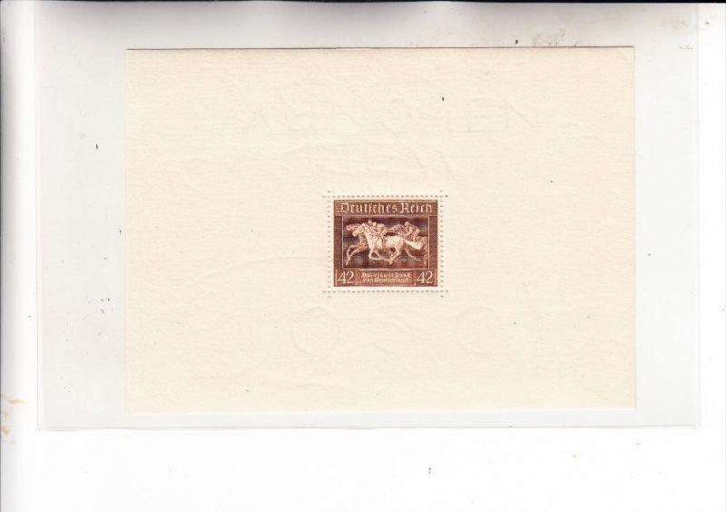 DEUTSCHES REICH, 1936, Michel 621, Block 4 postfrisch **, Braunes Band