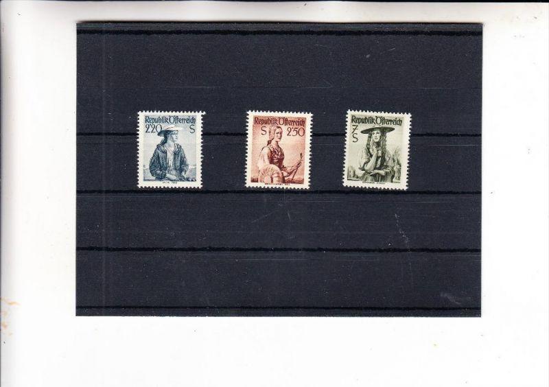 ÖSTERREICH, 1952, Trachten Ergänzugswerte, Michel 978 - 980 ** postfrisch