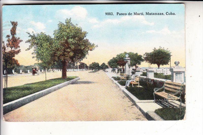 CUBA, MATANZAS, Passo de Marti, 1916