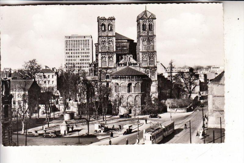5000 KÖLN, Gereonskirche & Umgebung, Strassenbahn, noch gut erkennbare Kriegsschäden