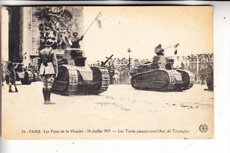 MILITÄR - PANZER / Tank / Chars / Tanque  - Paris 1919