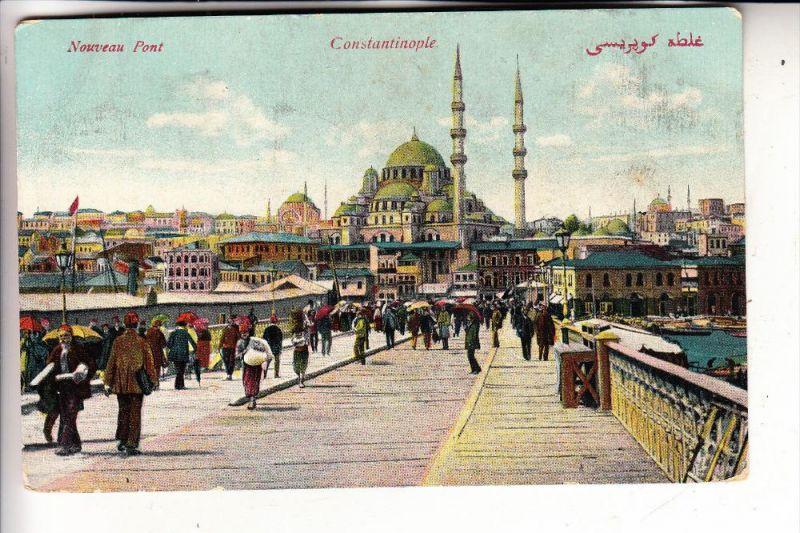 TÜRKEI - Konstantinopel, Neue Brücke, französische Post in der Levante, 1911