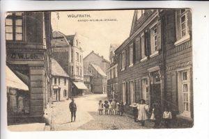 5603 WÜLFRATH, Kaiser-Wilhelm-Strasse, 1913, Druckstelle über die Karte