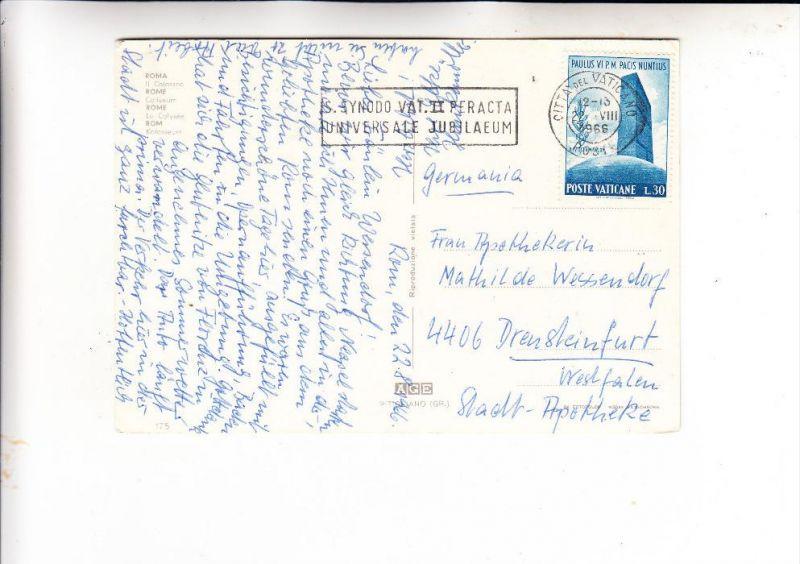 VATICAN - 1965, Unificato 417, Einzelfrankatur nach Deutschland