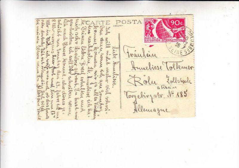 FRANCE / FRANKREICH, 1936, Michel 332, Einzelfrankatur nach Deutschland