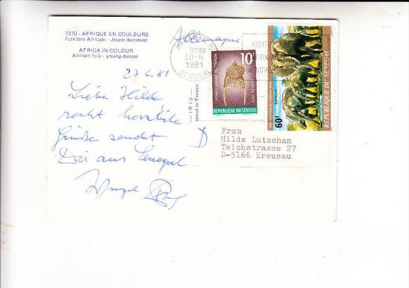 SENEGAL, 1972, Michel 506 & 717, Mischfrankatur nach Deutschland