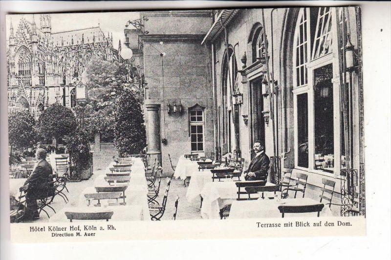 5000 KÖLN, Hotel Kölner Hof, Terrasse zum Kölner Dom