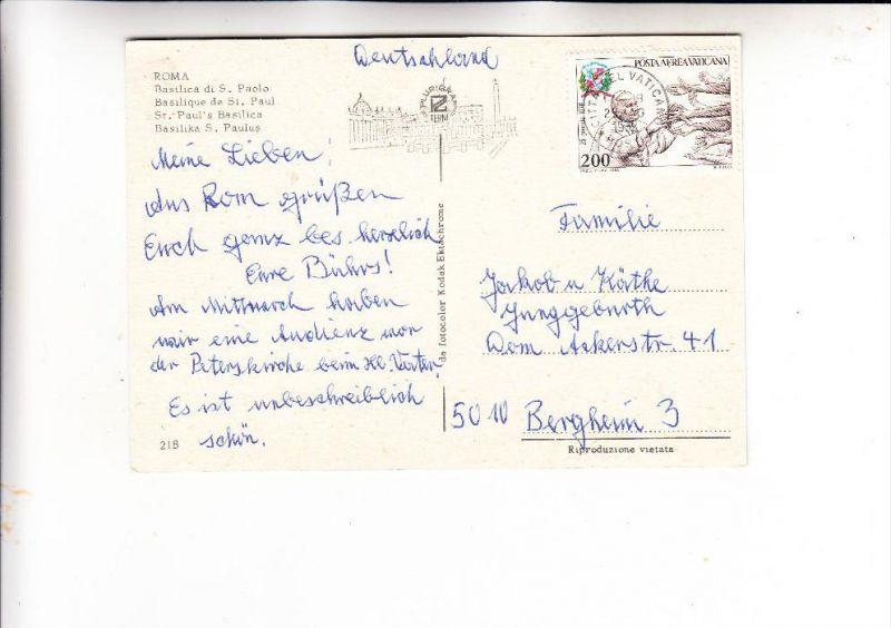 VATICAN - 1980, Unificato A66, Einzelfrankatur nach Deutschland