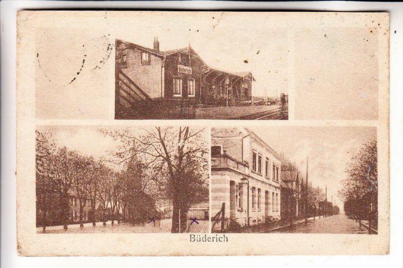 4230 WESEL - BÜDERICH, Kirche, Strassenansicht, Bahnhof, 1921