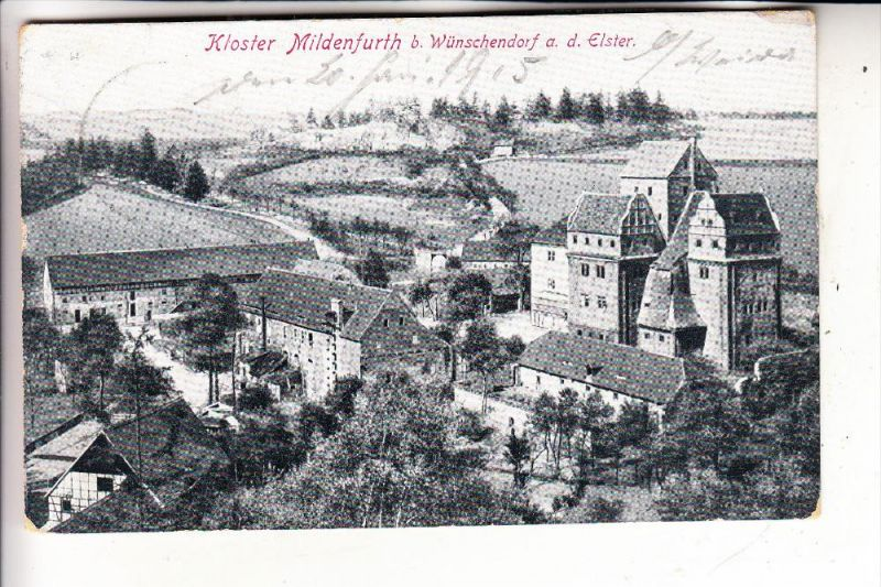 0-6519 WÜNSCHENDORF, Kloster Mildenfurth, 1915