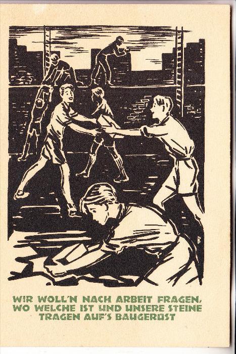 GESCHICHTE - Deutschland Wiederaufbau  Propagandakarte