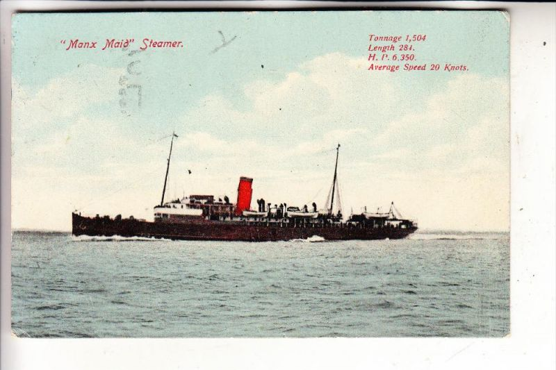 UK - ENGLAND - ISLE OF MAN, TSS MANX MAID, 1926