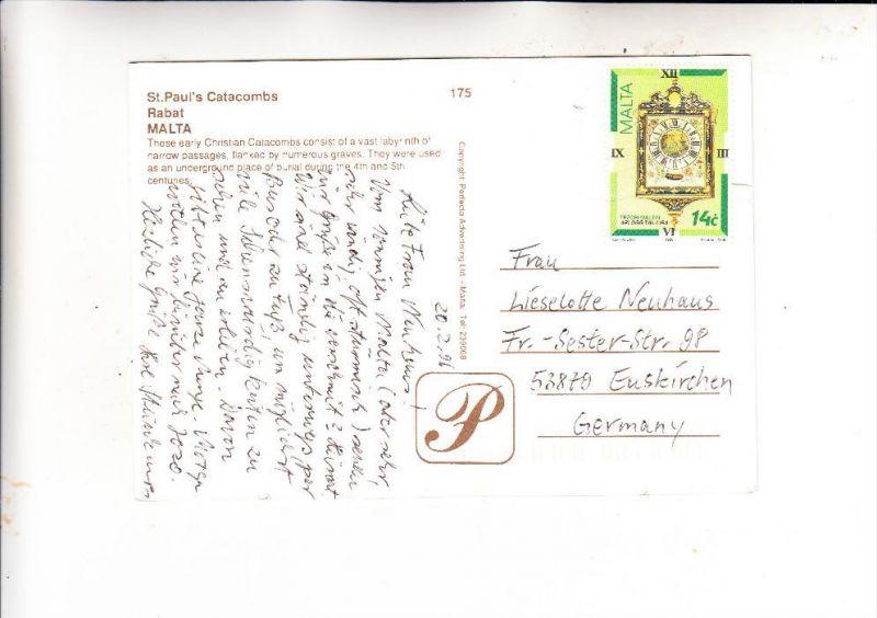 MALTA, 1995, Michel 969, AK-Einzelfrankatur nach Deutschland