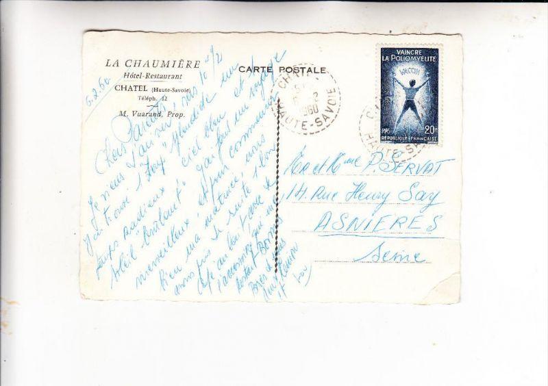 FRANCE / FRANKREICH, 1959, Michel 1266, Einzelfrankatur