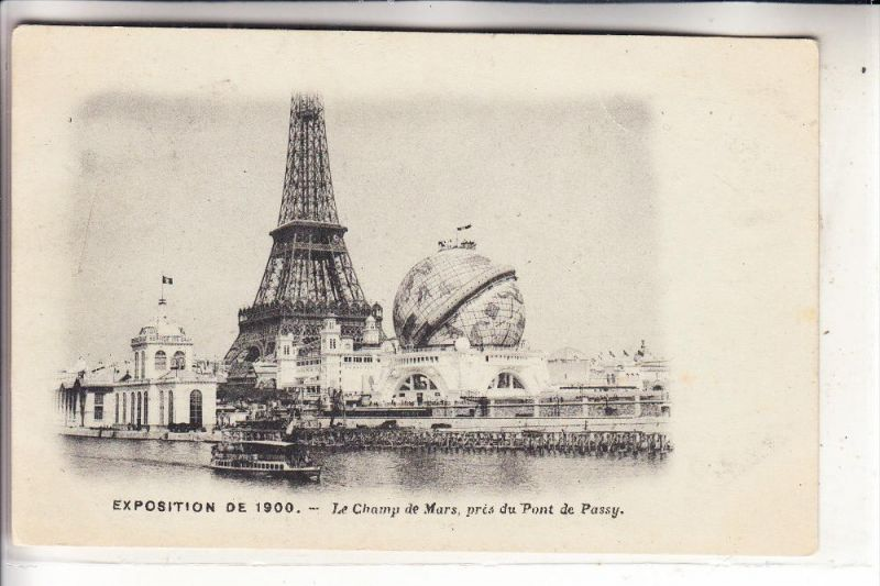 EXPO - PARIS 1900, Le Champ de Mars, Globus