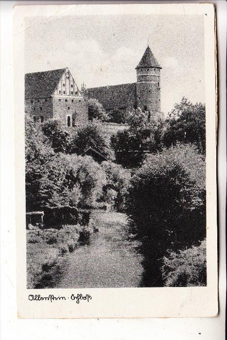 OSTPREUSSEN - ALLENSTEIN / OLSTYN, Schloß, 1942, kl. Klebereste rücks.
