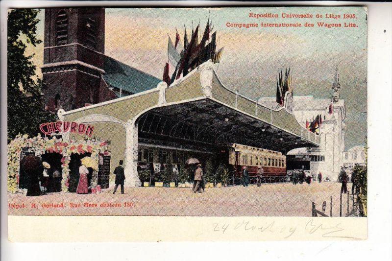 EISENBAHN - Railway, Compagnie Internationale des Wagons Lits, Expo 1905 Liege