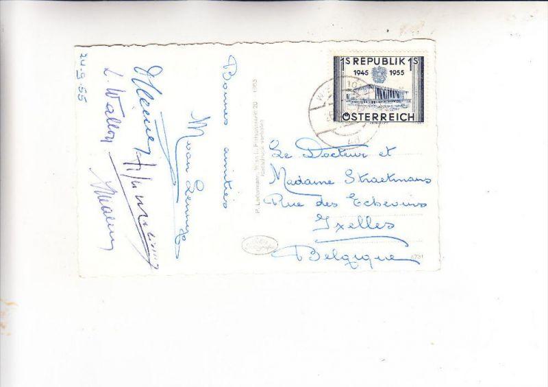 ÖSTERREICH, 1955, Michel 1013, AK-Einzelfrankatur nach Belgien