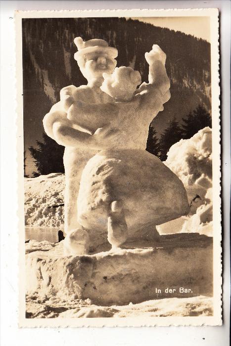 CH 7260 DAVOS, Schneefiguren in der Bar, 1927