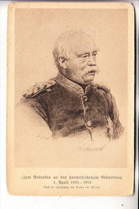 POLITIK - Bismarck, Andenken an den 100. Geburtstag