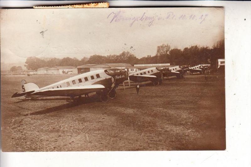 FLUGZEUGE / Airplanes / Avion - 4 Junkers G 23, Flgh. Berlin-Tempelhof, 1927, v. Königsberg - Berlin - Köln befördert